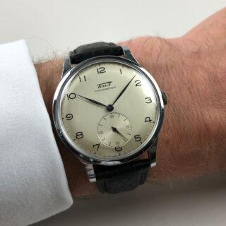 Tissot 'Oversized' Ref. 6181 -3 steel and chrome vintage wristwatch, circa 1948
