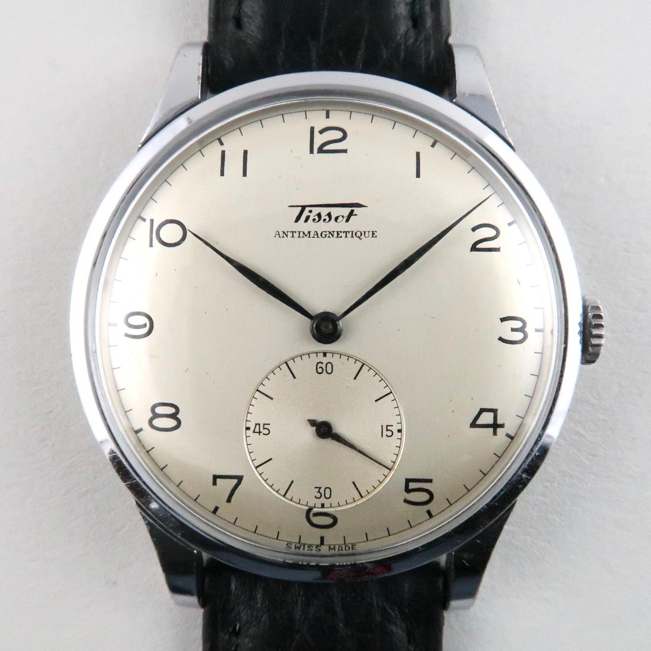 Tissot Oversized Ref. 6181 -3 steel vintage wristwatch, circa 1948