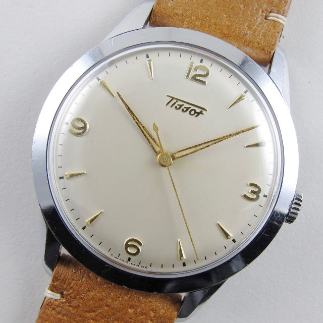 Tissot 'Oversized' Ref. 6740 -1 steel & chrome vintage wristwatch, circa 1956