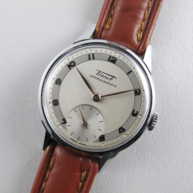 Tissot Ref. 6424 -1F steel and chrome vintage wristwatch, circa 1948