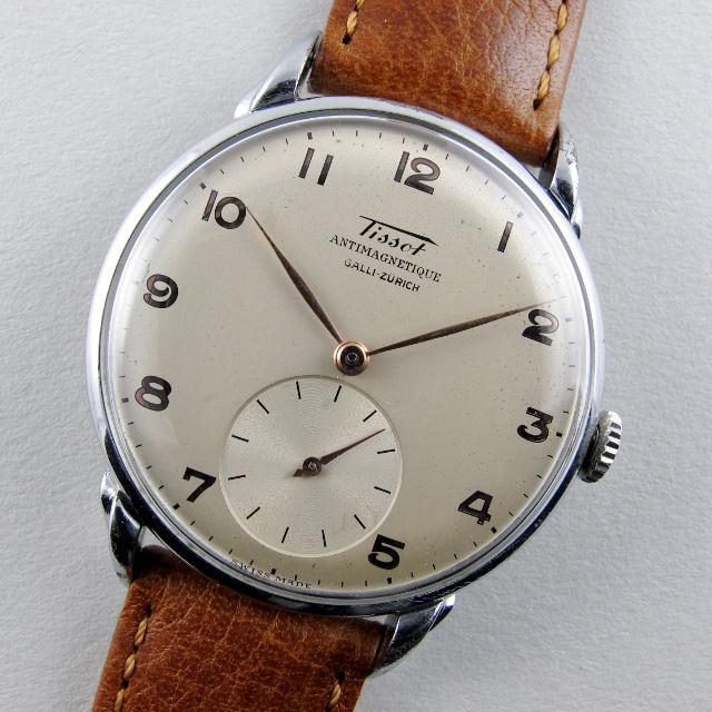 Tissot Ref. 6453 -1 retailed by Galli Zurich steel and chrome vintage wristwatch, circa 1946