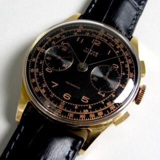 Titus Genève, pink gold vintage chronograph, circa 1950