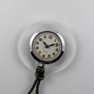 Pierce Tivoli acrylic and chrome pendant watch, circa 1940