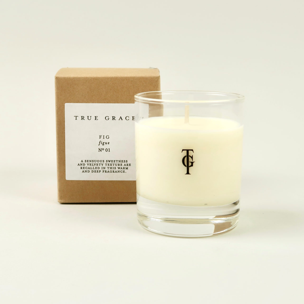 Small Scented Candle by True Grace - Fig
