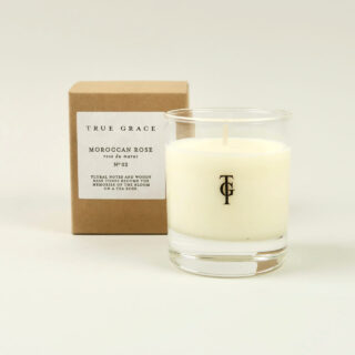 Small Scented Candle by True Grace - Moroccan Rose