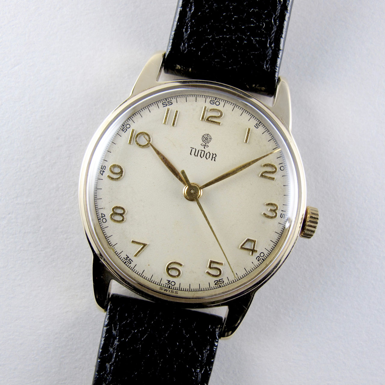 Tudor 'Fifteen' gold vintage wristwatch, hallmarked 1955