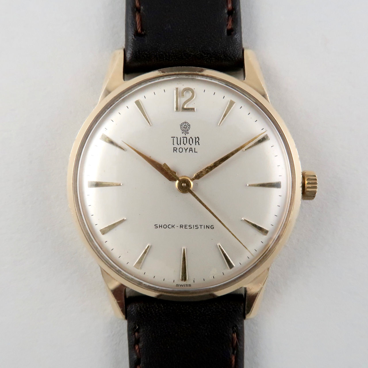 Tudor gold vintage wristwatch hallmarked 1962