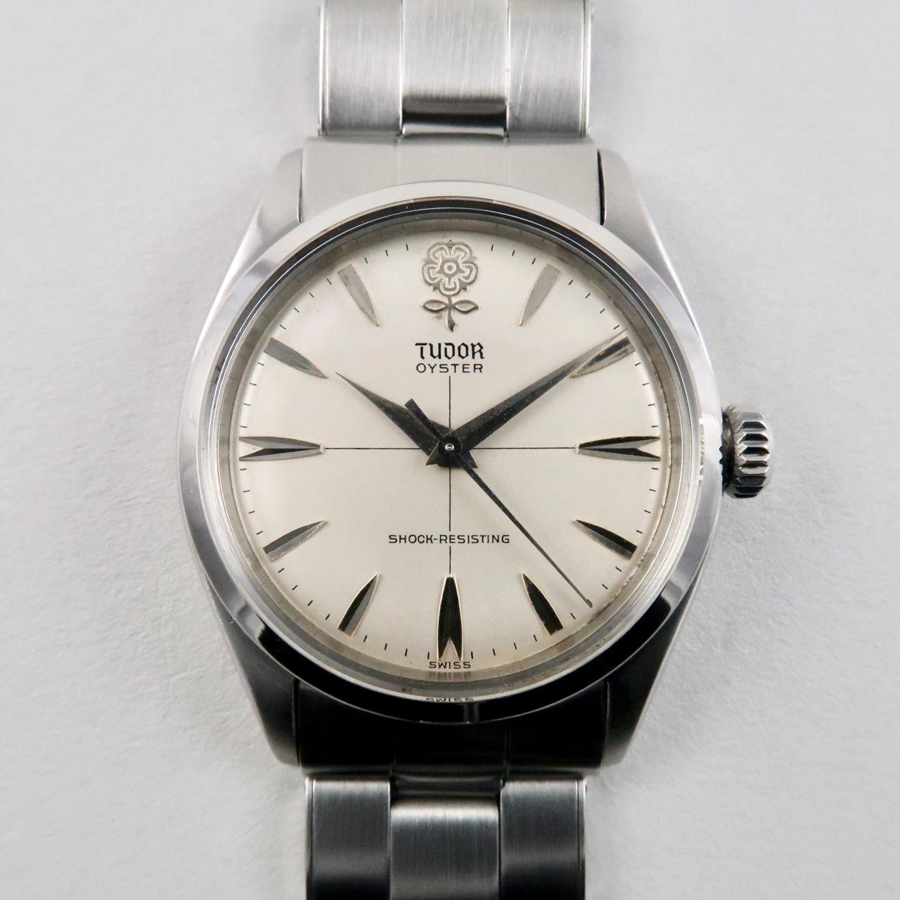 Tudor Oyster 'Big Rose' Ref.7934 steel vintage wristwatch, dated 1959