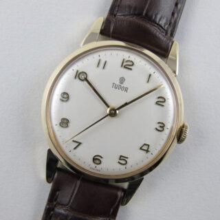 Tudor / Rolex gold vintage wristwatch, hallmarked 1956