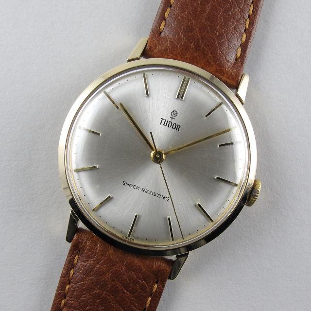 Tudor / Rolex gold vintage wristwatch, hallmarked 1965