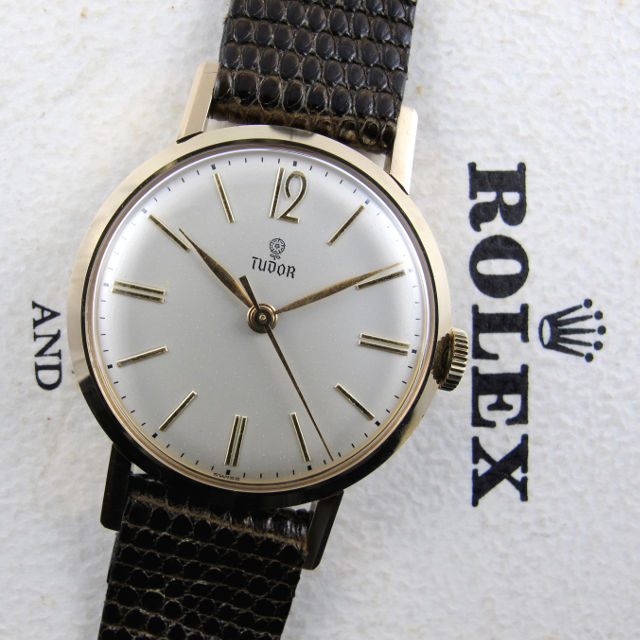 Tudor / Rolex gold vintage wristwatch, sold in 1965