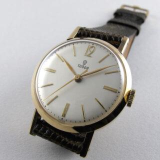 Tudor / Rolex gold vintage wristwatch, sold in 1965