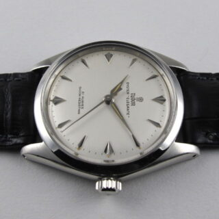 Steel Tudor / Rolex Oyster Elegante Ref. 7960 vintage wristwatch, dated 1963