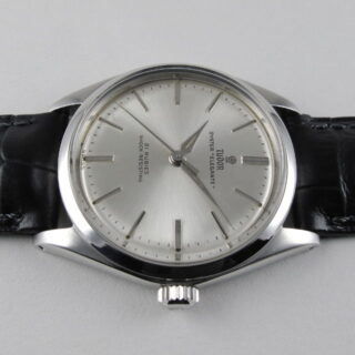 Steel Tudor / Rolex Oyster Elegante Ref. 7960 vintage wristwatch, dated 1963