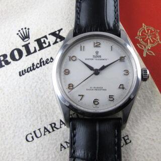 "Steel Tudor / Rolex Oyster ""Elegante"" Ref. 7960 vintage wristwatch, dated 1963"