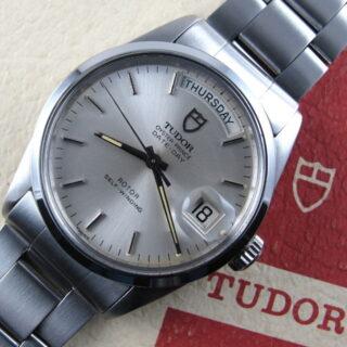 Steel Tudor / Rolex Oyster Prince Date + Day Ref. 94500 vintage wristwatch, circa 1984