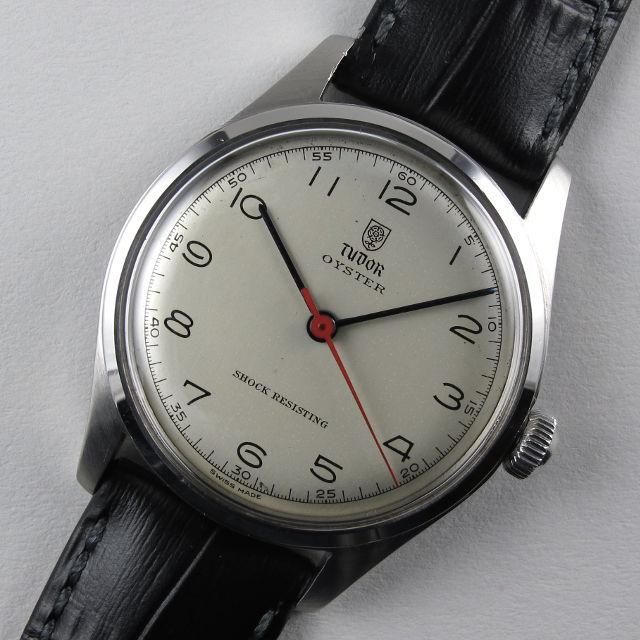 Steel Tudor / Rolex Oyster Ref. 4463 vintage wristwatch, circa 1945