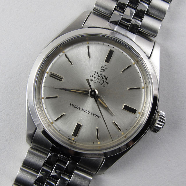 Steel Tudor/Rolex Oyster Royal Ref. 7934 vintage wristwatch, dated 1962