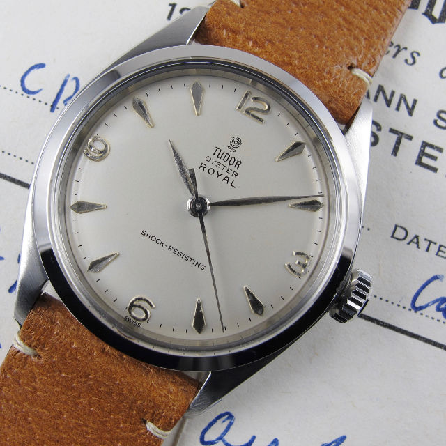 Tudor/Rolex Oyster Royal Ref. 7934 steel vintage wristwatch, sold in 1963
