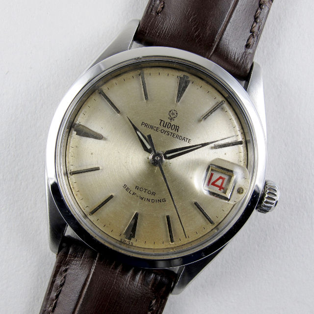 Tudor / Rolex Oysterdate Ref. 7966 steel vintage wristwatch, dated 1959