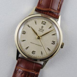Gold Tudor / Rolex Royal vintage wristwatch, hallmarked 1954