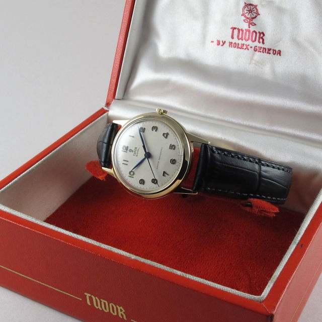 Gold Tudor / Rolex Royal vintage wristwatch, hallmarked 1955