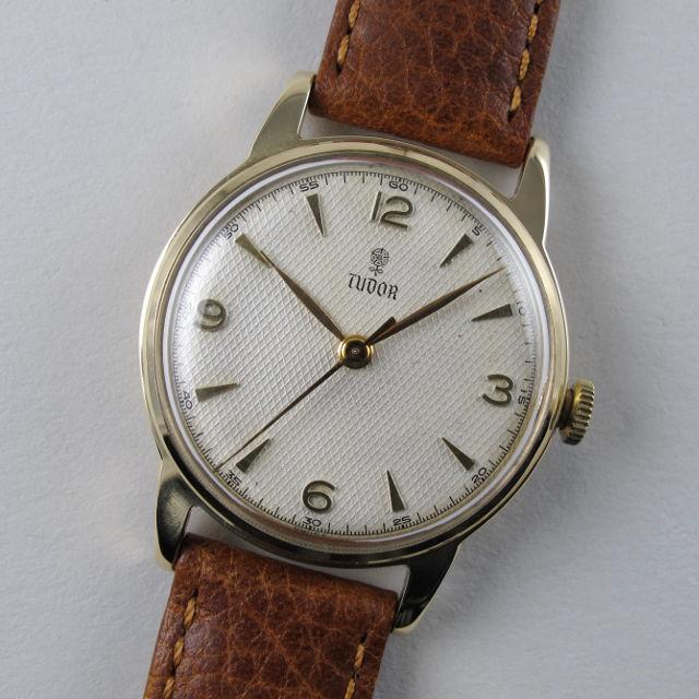 Gold Tudor / Rolex vintage wristwatch, hallmarked 1956