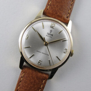 Tudor Royal gold vintage wristwatch, hallmarked 1967