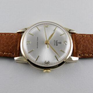 Tudor Royal gold vintage wristwatch, hallmarked 1967