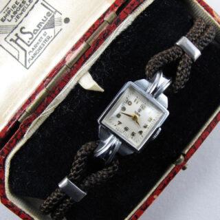 Chrome/Steel Tudor Royal Ref. 743 lady's vintage cocktail watch, circa 1955