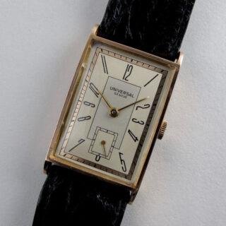 Universal Genève Ref. 18501 pink gold vintage wristwatch, circa 1942