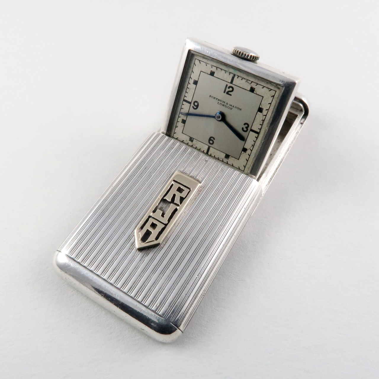 Vertex Revue retailed by Fortnum and Mason London silver vintage purse watch, hallmarked 1936
