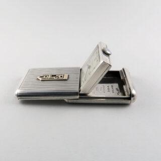 Vertex Revue retailed by Fortnum and Mason London silver vintage purse watch, hallmarked 1936