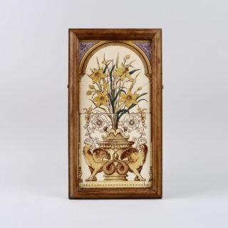Framed Victorian Tile Panel