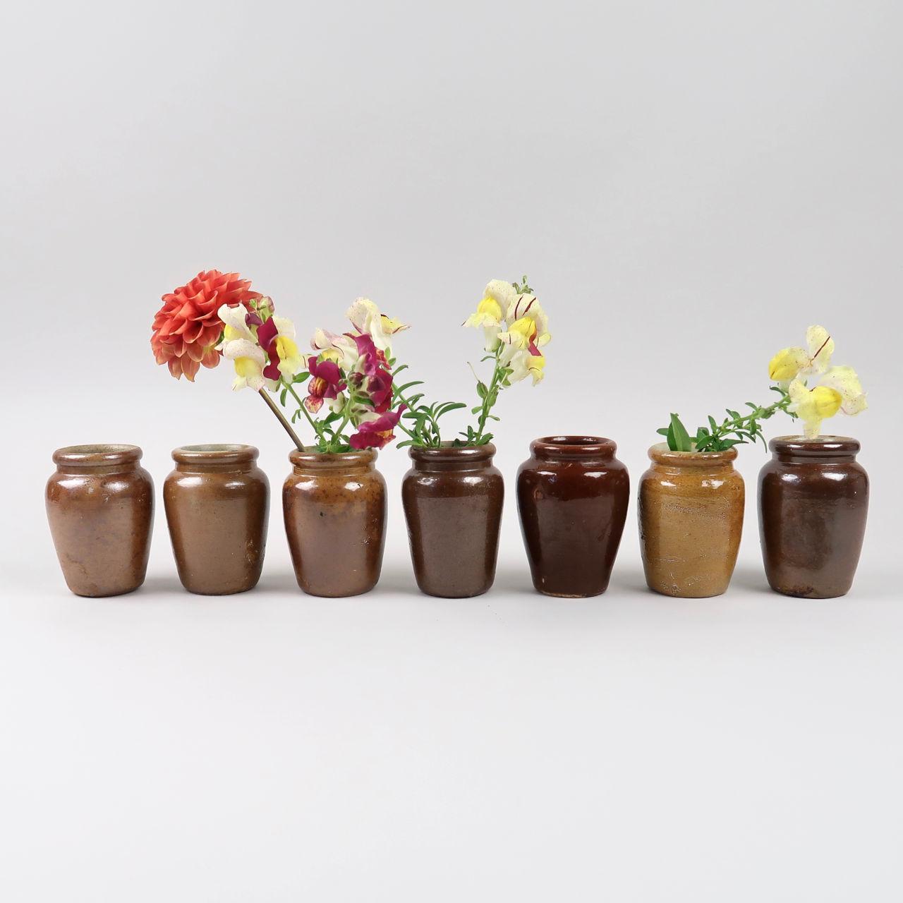 Vintage Stoneware Cream Jars