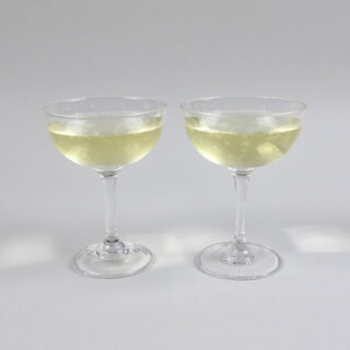 Champagne Coupe with Etched Stars