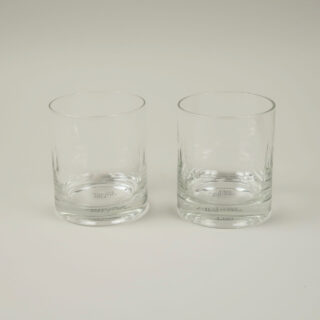 Boxed Pair of Hand-Engraved Whisky Glasses - Lens Design