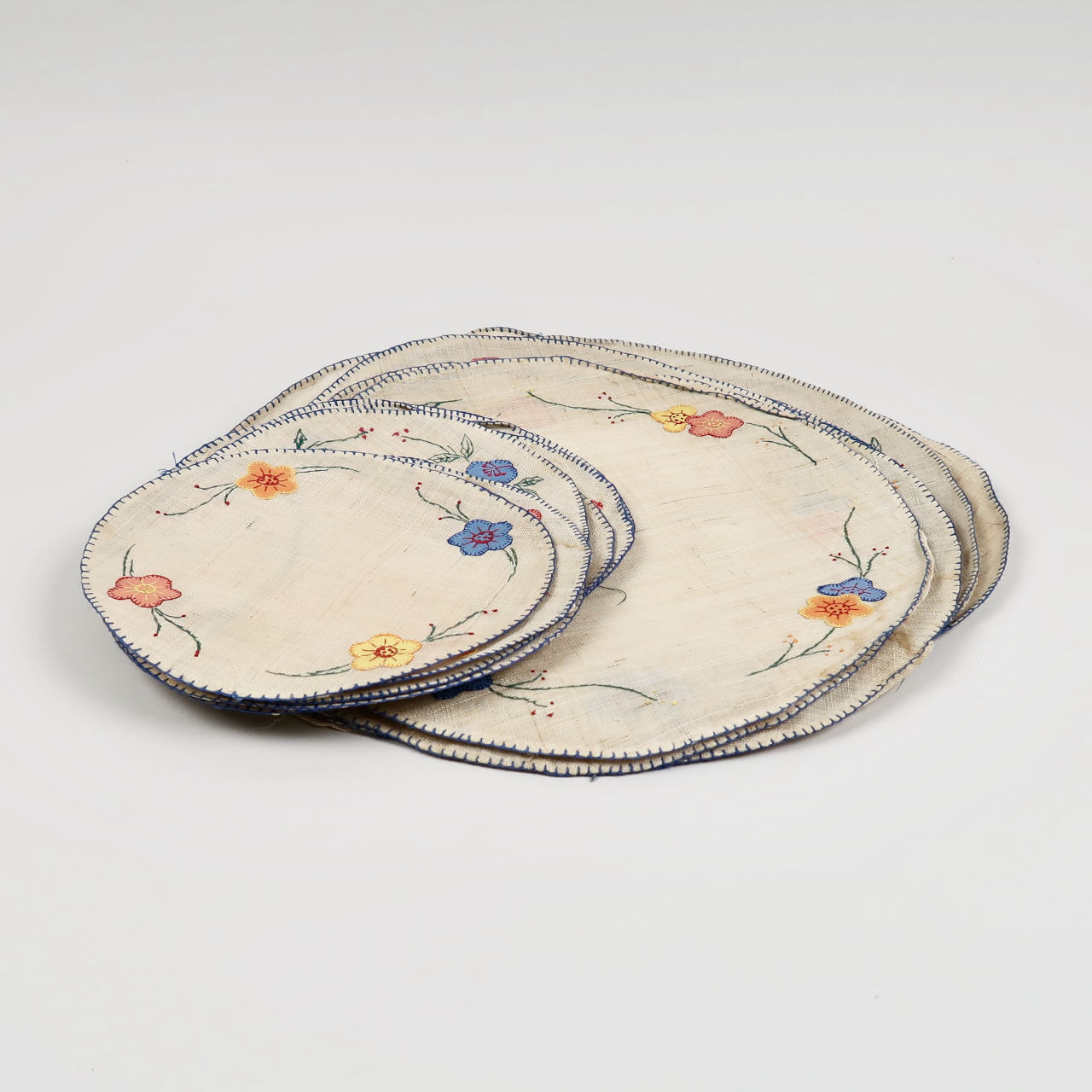 Embroidered Placemats and Coasters - Set of 12