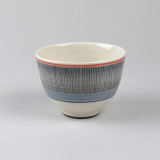 Decorated Tea Bowl, handmade by James & Tilla Waters