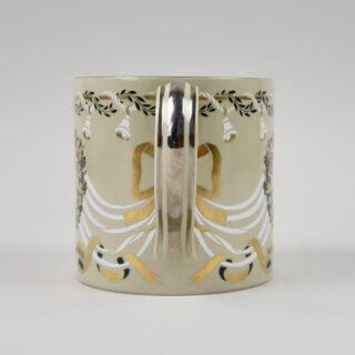 Wedgwood Silver Wedding Anniversary Mug designed by Richard Guyatt