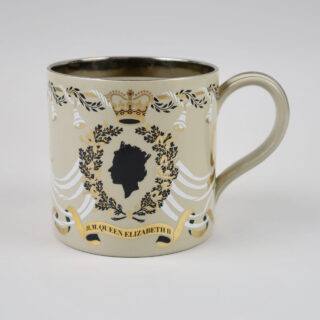Wedgwood Silver Wedding Anniversary Mug designed by Richard Guyatt