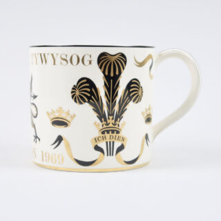 Wdgwood Prince of Wales Investiture Mug designed by Richard Guyatt
