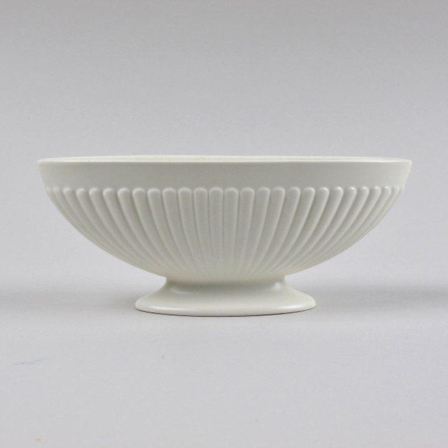 Wedgwood Ribbed White Flower Vase Black Bough Ludlow