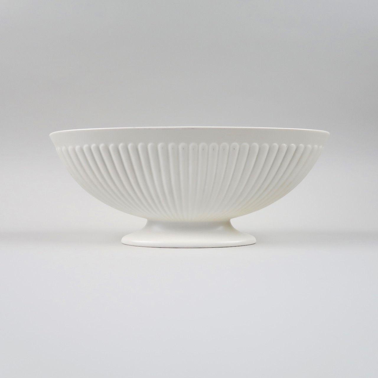 Wedgwood Ribbed Moonstone Vase