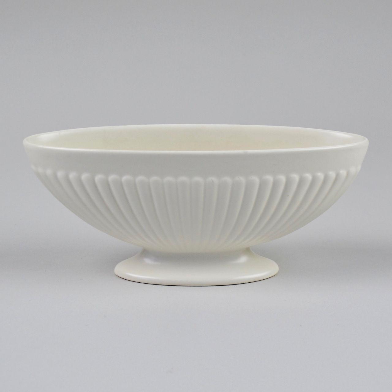 Wedgwood Ribbed White Oval Vase
