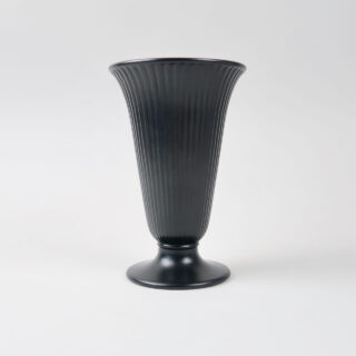 Wedgwood Ribbed Ravenstone Vase