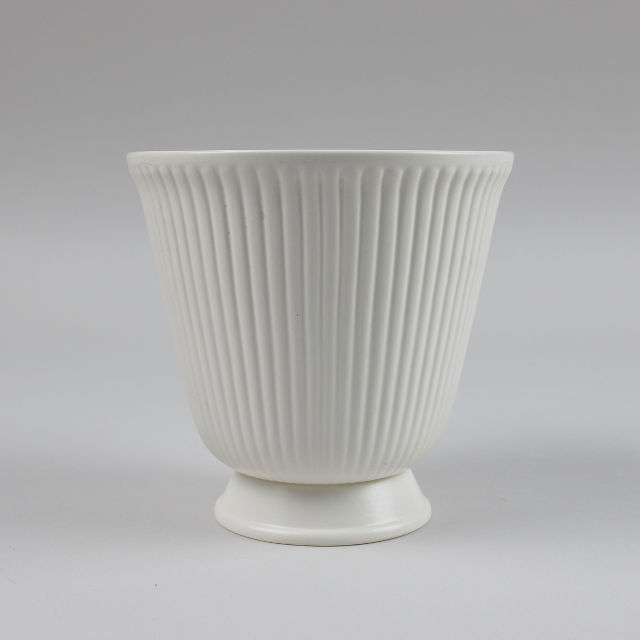 Wedgwood White Ribbed Vase