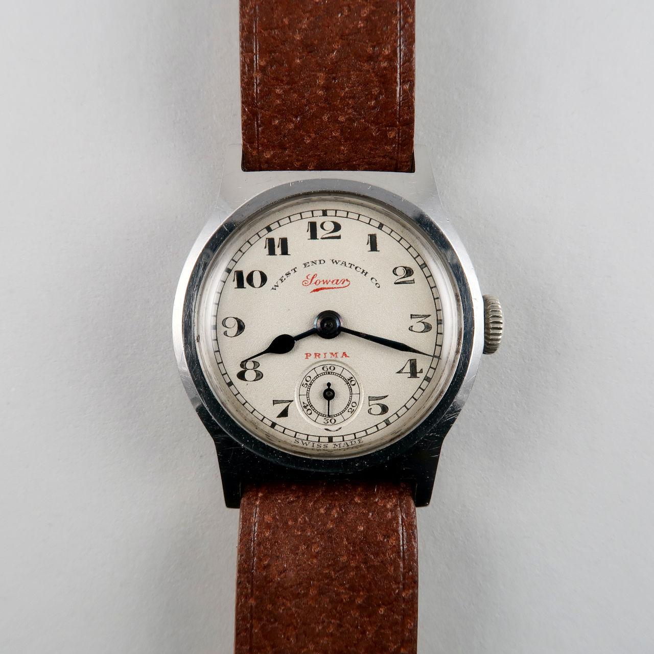 West End Watch Co with Taubert Fils Case circa 1940 | steel vintage hand wound wristwatch