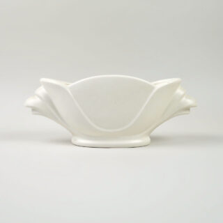 1950s White Vase