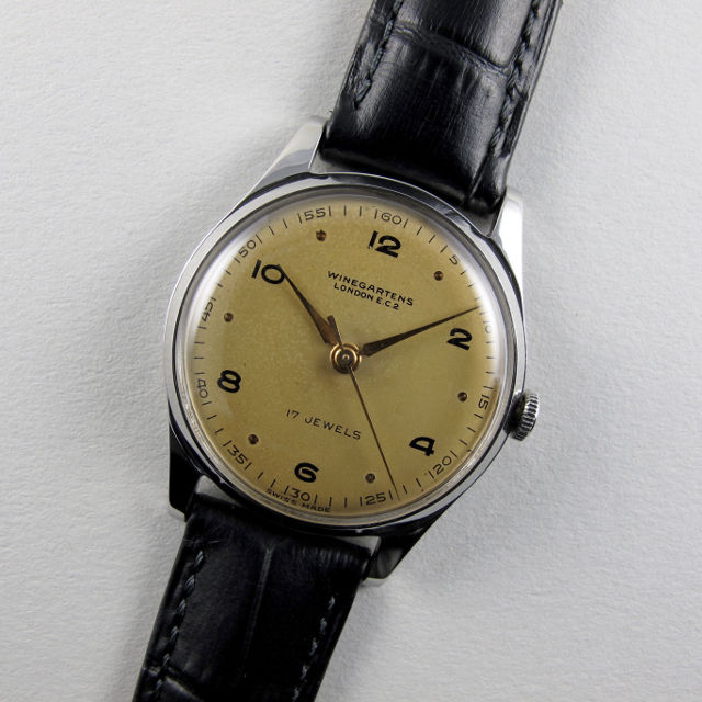 Winegartens London steel vintage wristwatch, circa 1950